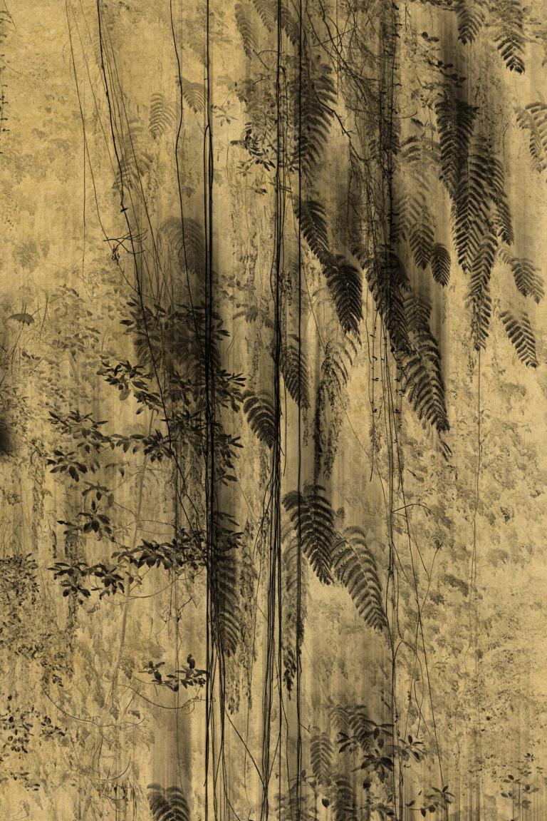 Work- Nyx Description- Platinum:Palladium print on gampi paper over gold leaf