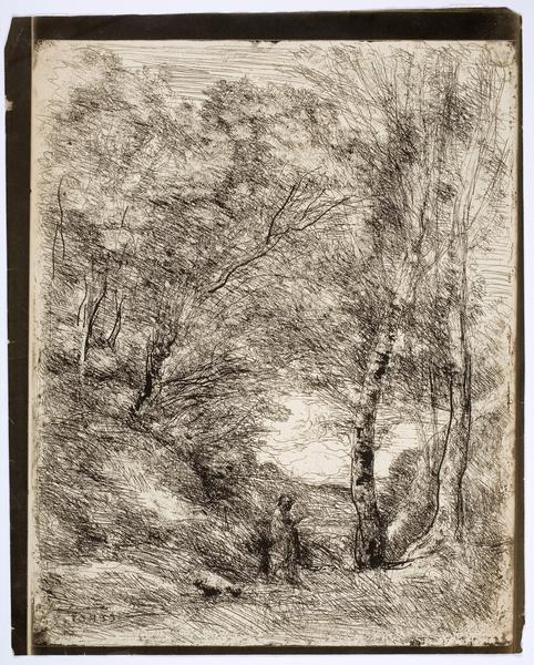 Les Jardins d'Horace, 1856 (cliché-verre)