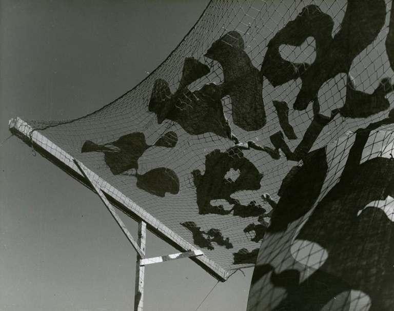 Max Dupain, Bankstown aerodrome camouflage experiment, c.1943. National Archives of Australia