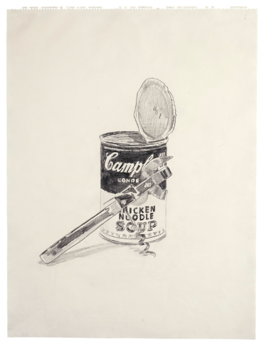 Andy Warhol CAMPBELL'S SOUP CAN AND CAN OPENER SOLD. 1,215,000 USD