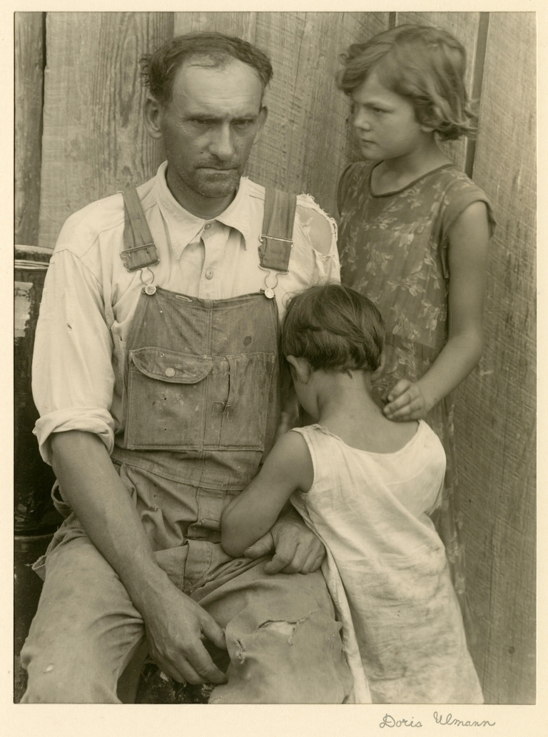 "Doris Ulmann ""Cheever Meaders and Daughters, Meaders Pottery, Cleveland, GA,"" ca. 1933. Posthumous gelatin silver print, printed by Samuel Lifshey, ca. 1934–37, 8 x 6 inches. Bere"