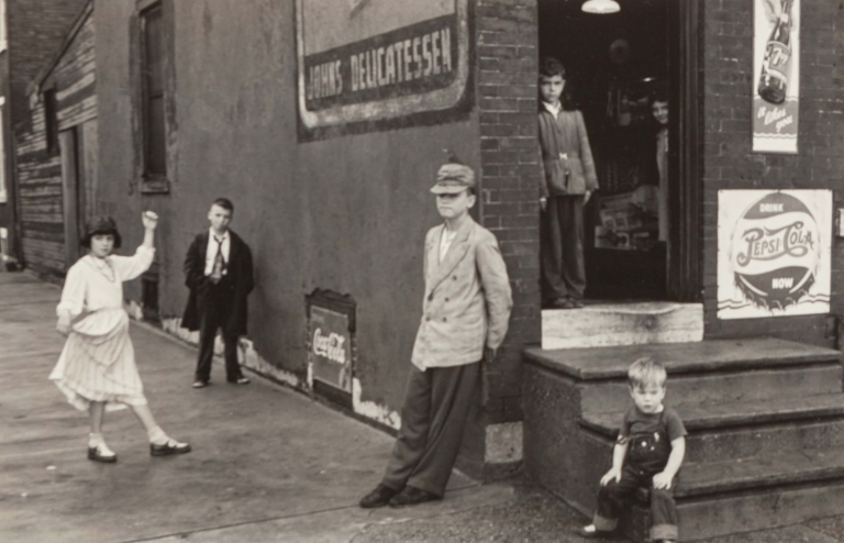 Edward Wallowitch (American, 1932-1981). Untitled (Children Outside of John's), 1950s . Gelatin silver.