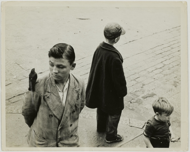 Edward Wallowitch Boys in the street, Circa 1955 Gelatin silver print 19.2 x 23.4 cm