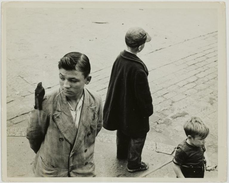 Edward Wallowitch Boys in the street, Circa 1955 Gelatin silver print 19.2 x 23.4 cm