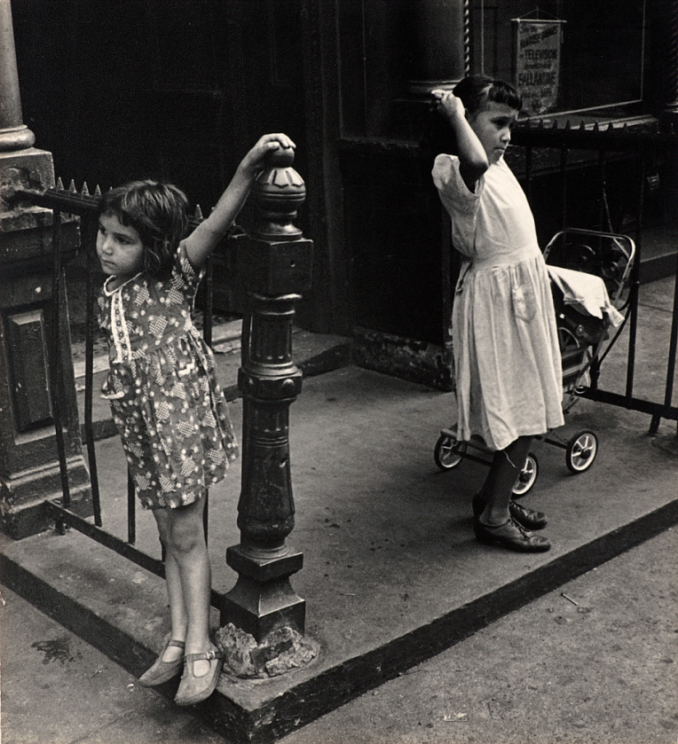 Henri Leighton (c.1950-1953) Untitled (two girls) Gelatin silver print 20.96 x 19.05 cm
