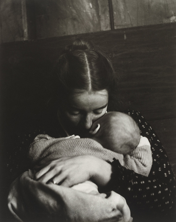 "Nell Dorr, ""Mother and Child,"" circa 1950. © Nell Dorr:The Museum of Modern Art, New York, Gift of the photographer"