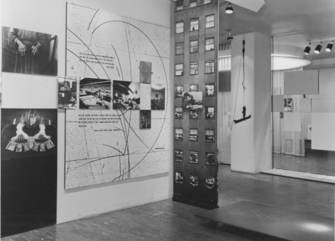 Installation view of the exhibition, The Family of Man. January 24, 1955–May 8, 1955 with Ulmann picture above left. The Museum of Modern Art Archives, New York. Photo: Rolf Petersen.