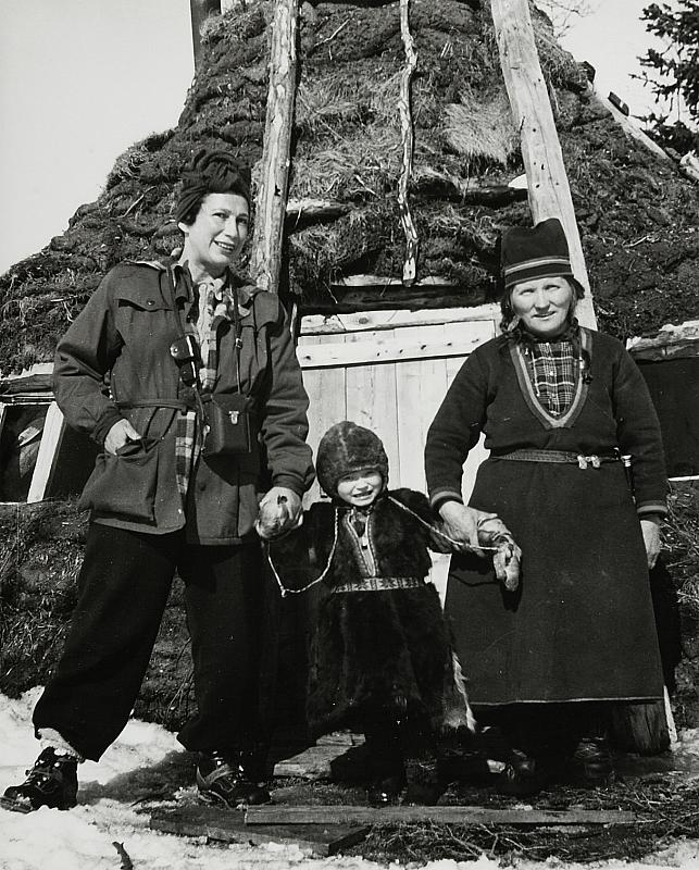 ca 1950 Anna Riwkin, Elle Kari and Elsa Pirtsi