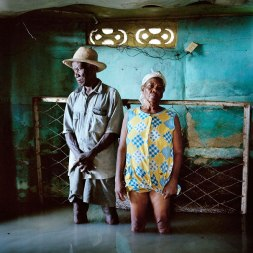 Gideon Mendel (2008) Christa and Salomon Raymond Fils, Decade Village, Haiti, September 2008