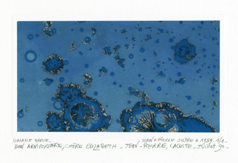 Jean-Pierre Sudre Galaxie blue 1989 Photograph Private collection of Elizabeth Opalenik