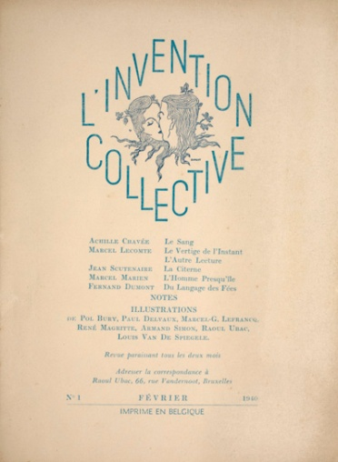 L'Invention Collective. Brussels, 1940. Cover, February 1940 (no. 1). Ryerson & Burnham Libraries