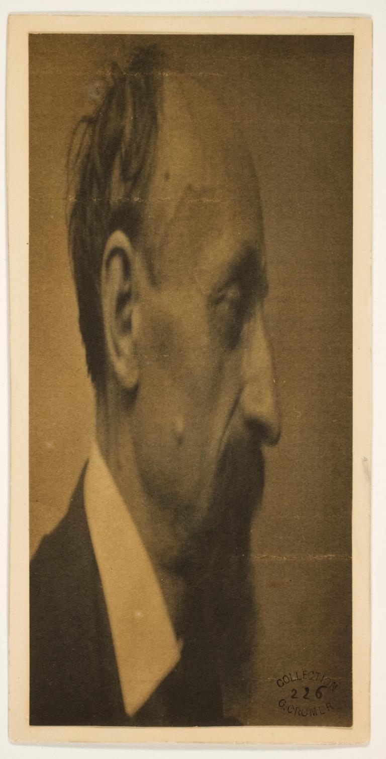 Louis Ducos du Hauron Self-portrait transformation 1888-1889 Gum bichromate print 16.4 x 7.5 cm (image) 17.4 x 8.5 cm (mount) George Eastman Museum