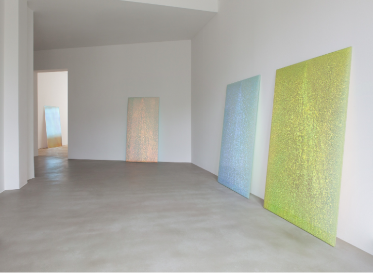 Gaufrette (Pink Shadow), 2015, Magic Mirror (Blue), 2012 (center)