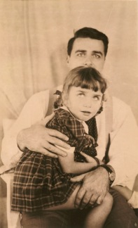 Edwin H. Land with his daughter (test photograph), 1945. Photograph by Meroë Marston Morse. Polaroid Corporation Records
