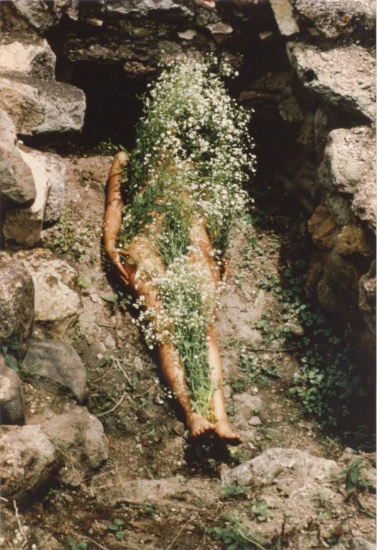 ana mendieta (1973-1977) untitled (from the silueta series), silver dye-bleach print, 50.5 × 40.3 cm