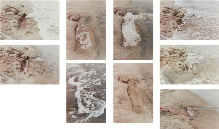 ana mendieta (1976) untitled (from the silueta series) , 9 color chromogenic prints, 33.7 x 50.5 cm