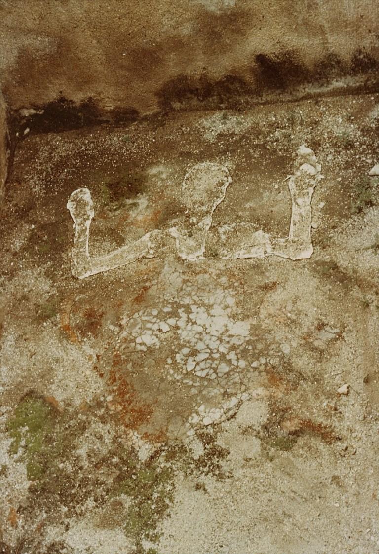Ana Mendieta (august 1976) Silueta Muerta. chromogenic print 24.5 x 16.8 cm