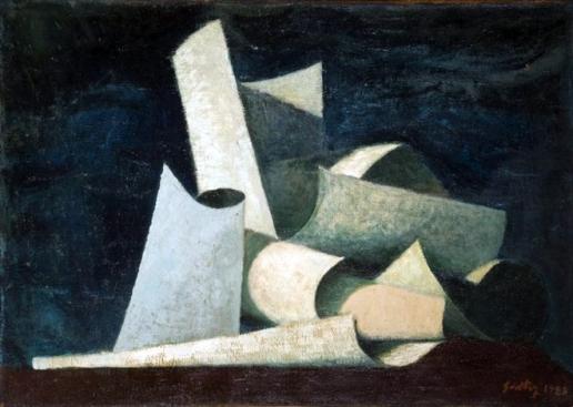 Émile Savitry (1928) Utitled, oil on canvas, 46.5 x 65 cm.