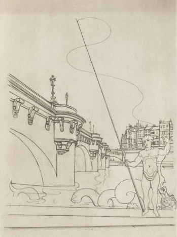 André Derain (1937) Le Pont-Neuf (first state). Signed in the plate 41x31 cm.