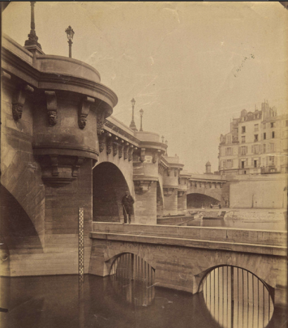 Eugène Atget (1902-1903), Pont Neuf, title and number '4654' inpencil (verso), 22.2 x 17.8 cm