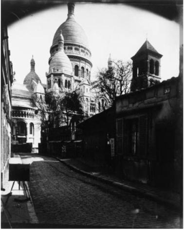 Eugène Atget (1924-26) Montmartre : Rue du Chevalier de la Barre. Contact print on albumen paper from glass plate 17.5 x 22.7 cm