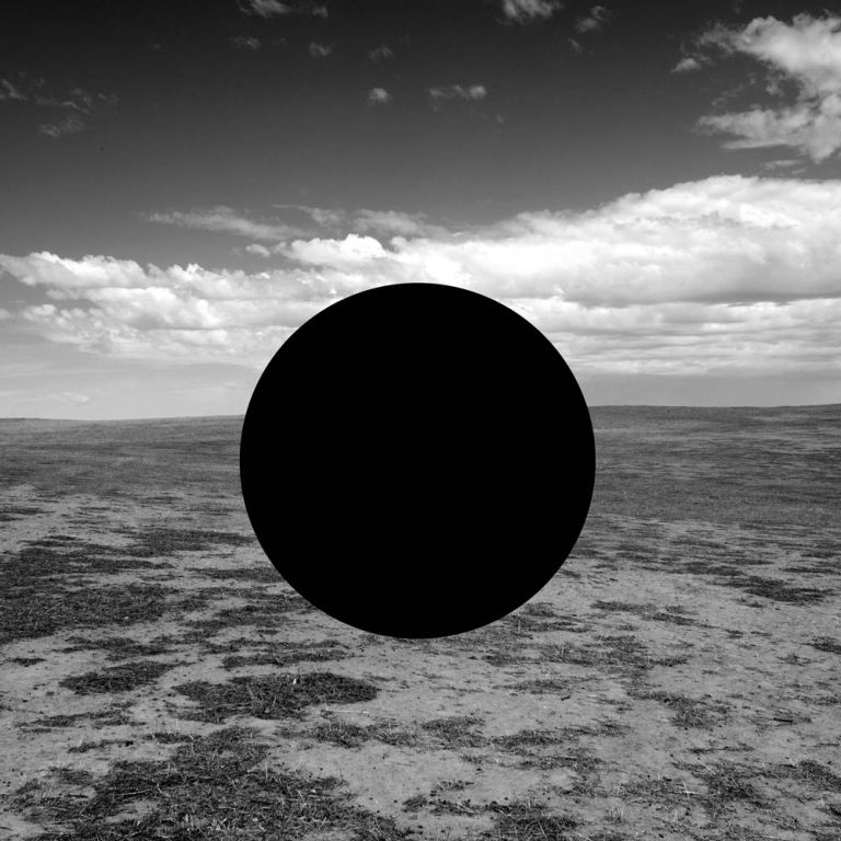 James Tylor, '(Vanished Scenes) From an Untouched Landscape #12', 2018 Inkjet print on hahnemuhle paper with hole removed to a black velvet void, 25 x 25 cm
