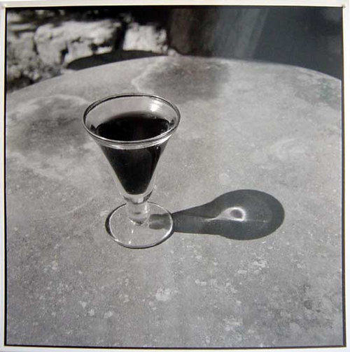 Bill Culbert Small glass pouring Light, France, 1997 silver gelatin prints 40.5 × 40.5cm Edition of 25