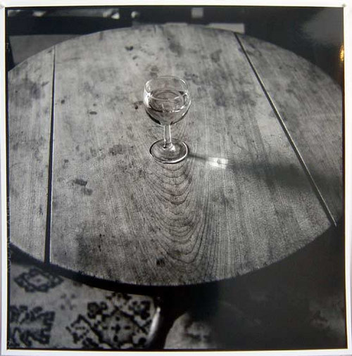 Bill Culbert Wine glass with window, France, 2002 silver gelatin prints 40.5 × 40.5cm Edition of 25
