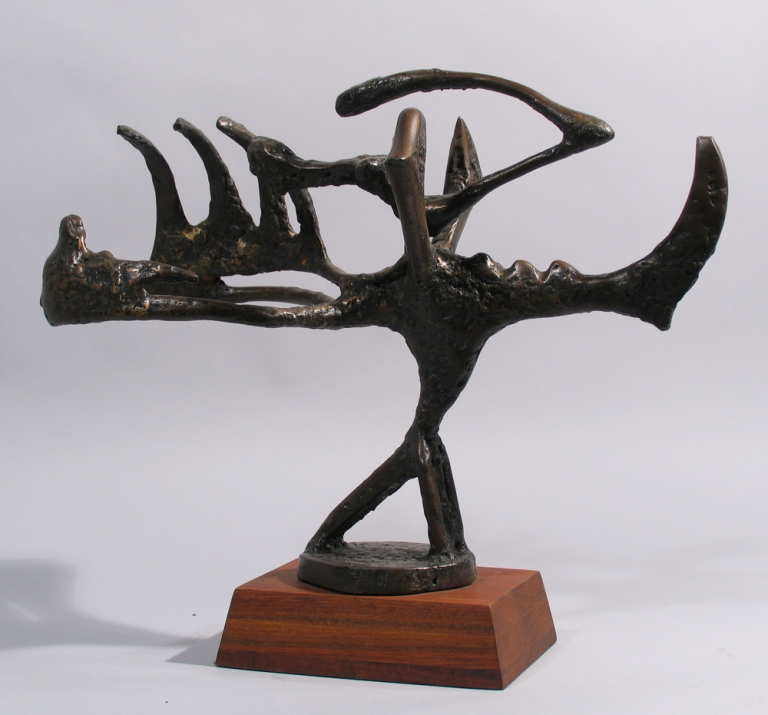 Emergence- Transition I, 1945 Direct bronze, walnut walnut base, 44.45 x 50.8 x 24.13 cm Arizona State University Art Museum. Gift of Oliver B. James (1951).