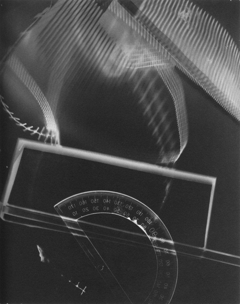 Photogram, 1937-39 Gelatin Silverprint 9 13:16 x 7 7:8 in Location- Unknown