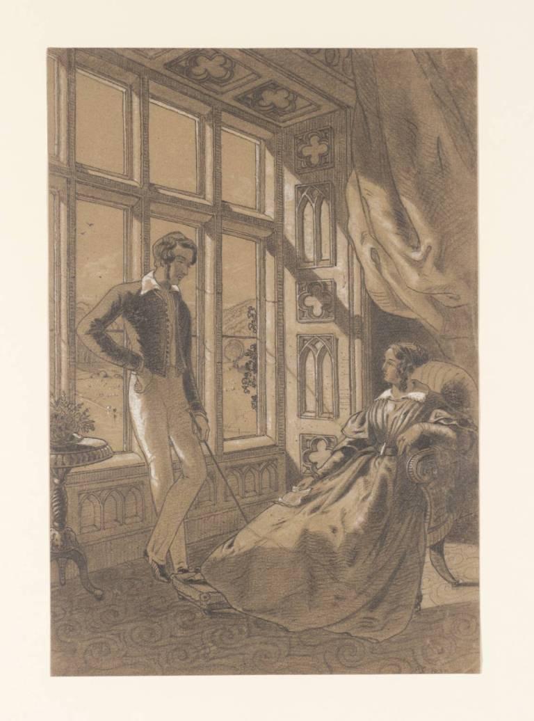 [title not known] Verso: Sketch 1840 by Elizabeth Rigby (Lady Eastlake) 1809-1893