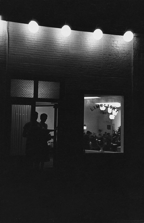 Arthur Lavine, Exterior of Limelight, ca. 1954 Courtesy Collection Center for Creative Photography, The University of Arizona