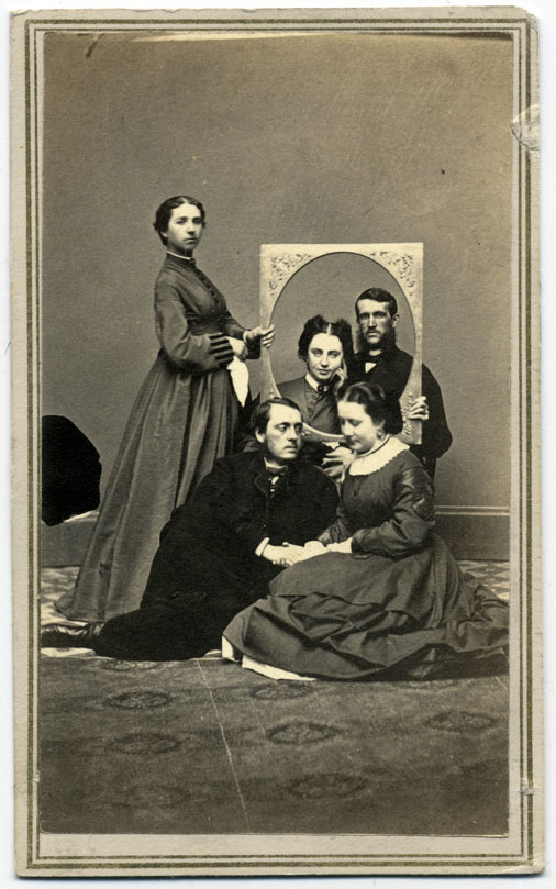 B.F. Howland & Co. (Syracuse, N.Y.) Friendship in Freeze Frame 1864, October Carte de visite Private collection of Ron Coddington