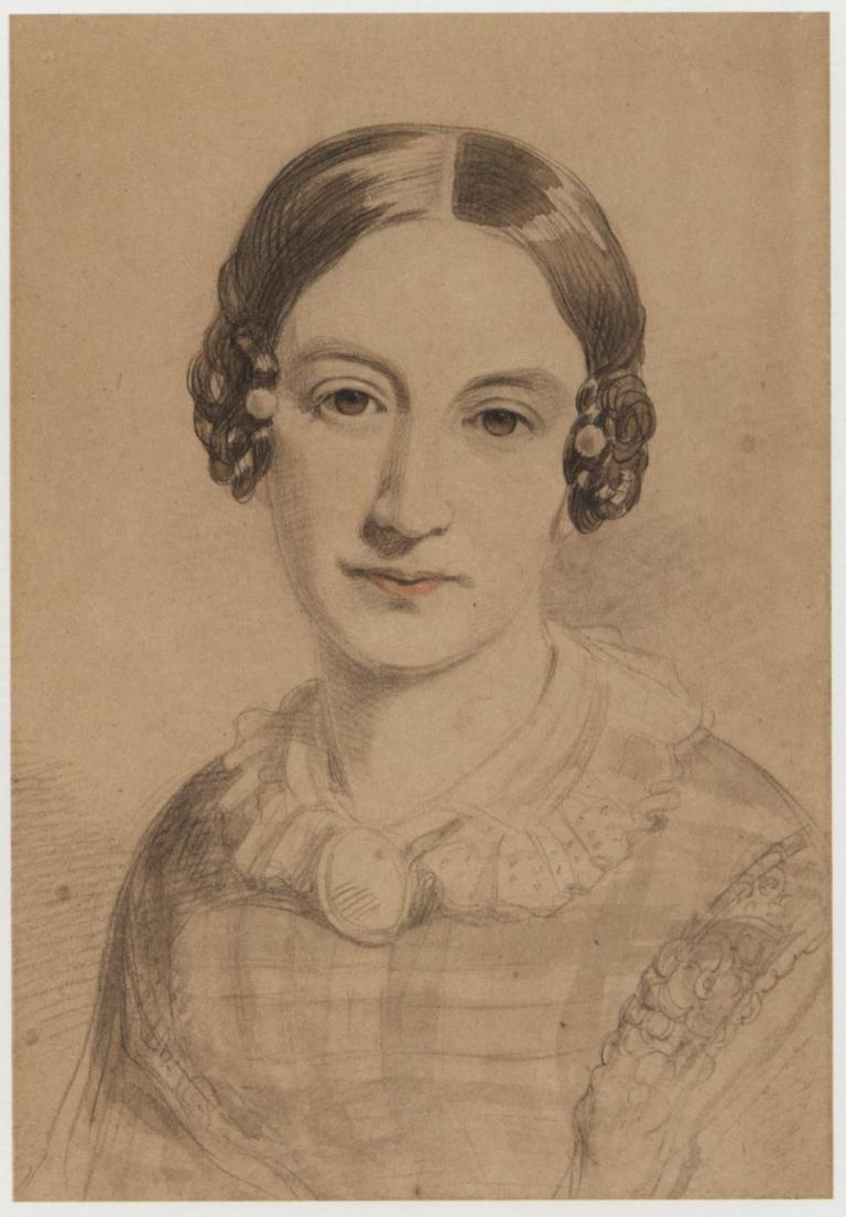 Self Portrait (folio 18, no. 57), perhaps late 1820s Graphite, touched with brown wash, heightened with red pencil, on buff paper, mounted on card, 27.6 x 19 cm