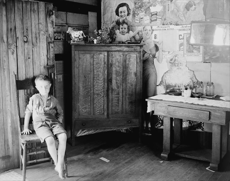 Boy in Coal Miner's House, near Morgantown, West Virginia],July 1935 Walker Evans