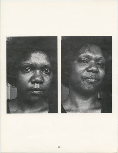 Carol Jerrems (1974) Syvanna Doolan, National Black Theatre, Sydney, page from 'A book about Australian Women'