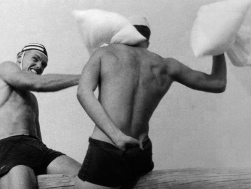 Beverley Clifford (1960s) Life Savers' pillow fight
