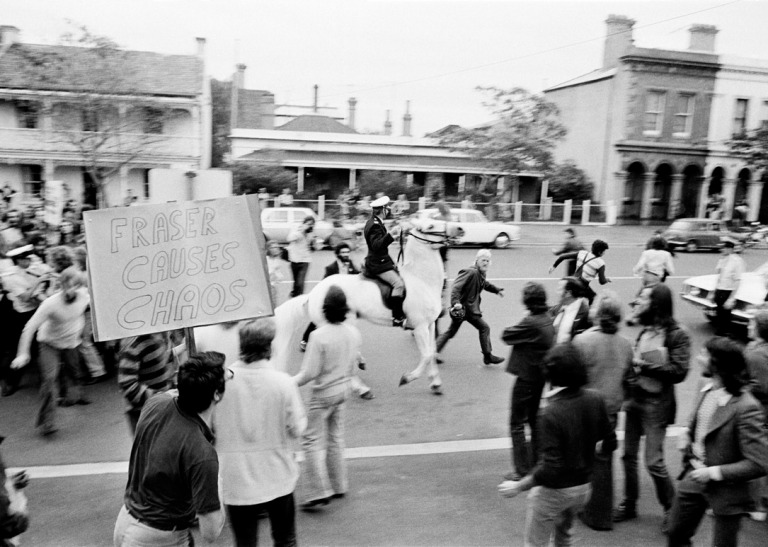 Street Protest November 11th 1975 Andrew Chapman