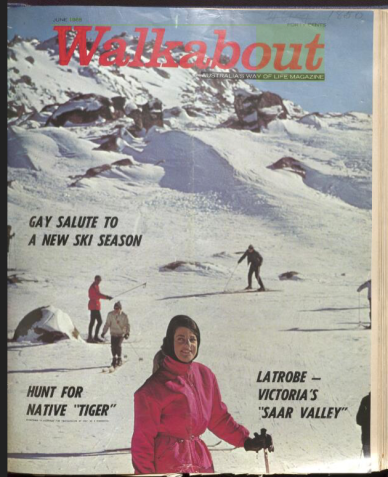 Helmut Gritscher (1966) cover of Walkabout June 1966