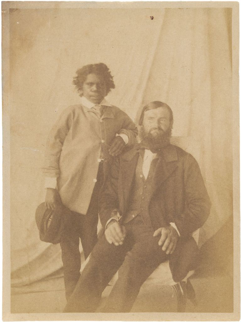 William Landsborough and his native guide Tiger 1858