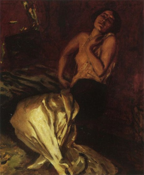 Albert von Keller (1904) Madeleine Guipet in a trance, oil on canvas