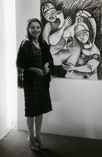 Brain McArdle (Nov. 19, 1961) Mirka Mora at her exhibition at CAS