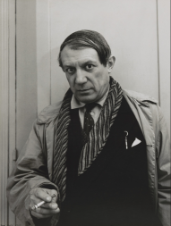 "Rogi André (Rozsa Klein) Pablo Picasso 1935 Not on view Medium Gelatin silver print Dimensions 15 1/8 x 11 3/8"" (38.4 x 28.9 cm) Credit Gift of Frank Crowninshield"