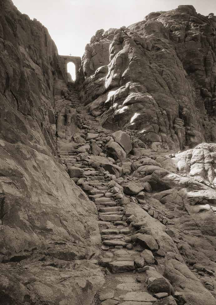 Sinai. Stone stairway and Gate of Confession, 28.05.1933, Roussen Collection B.cat- 7518.