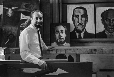 Brian McArdle (Aug. 20, 1961) Albert Tucker in his Hurstbridge studio
