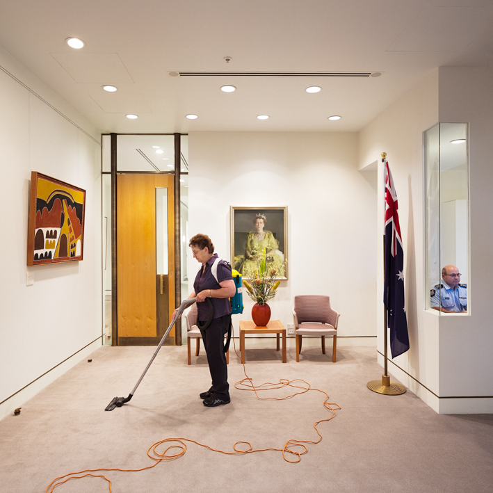 Cleaner-and-Australian-Federal-Police-Officer-Prime-Minister's-Office