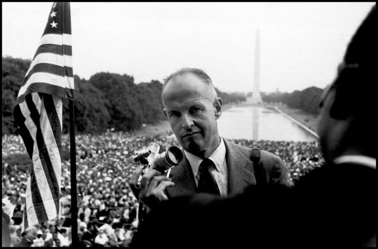 Washington D.C., 1957. Henri Cartier Bresson in Washington D.C.