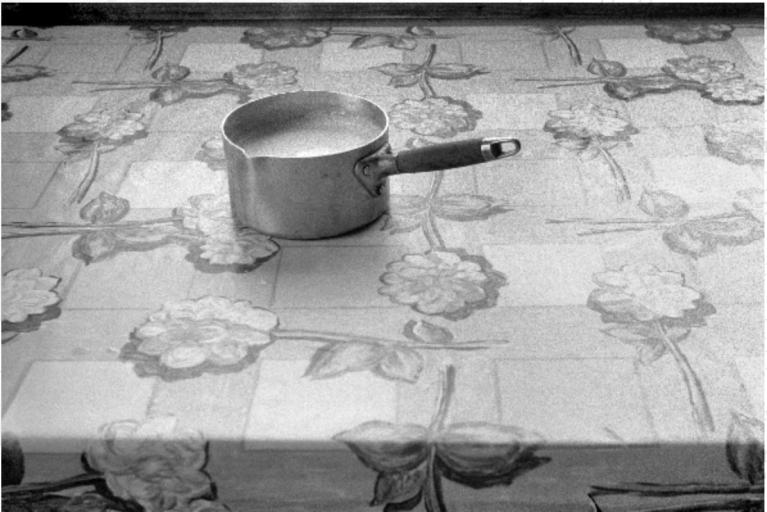 Claude Batho, La Casserole, Héry, 1980, black and white photography, unknown dimensions, © Claude Batho