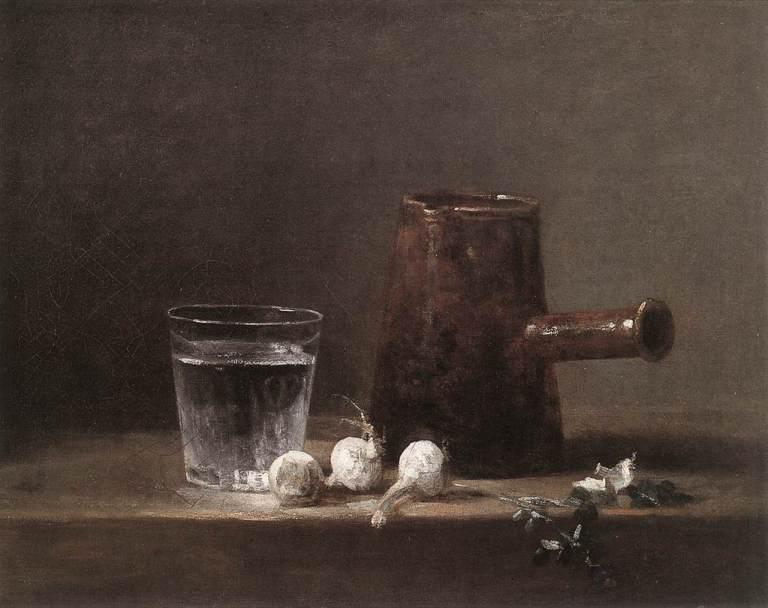 Jean-Baptiste-Siméon Chardin Water Glass and Jug 1760 32.5 cm x 41 cm Carnegie Museum of Art