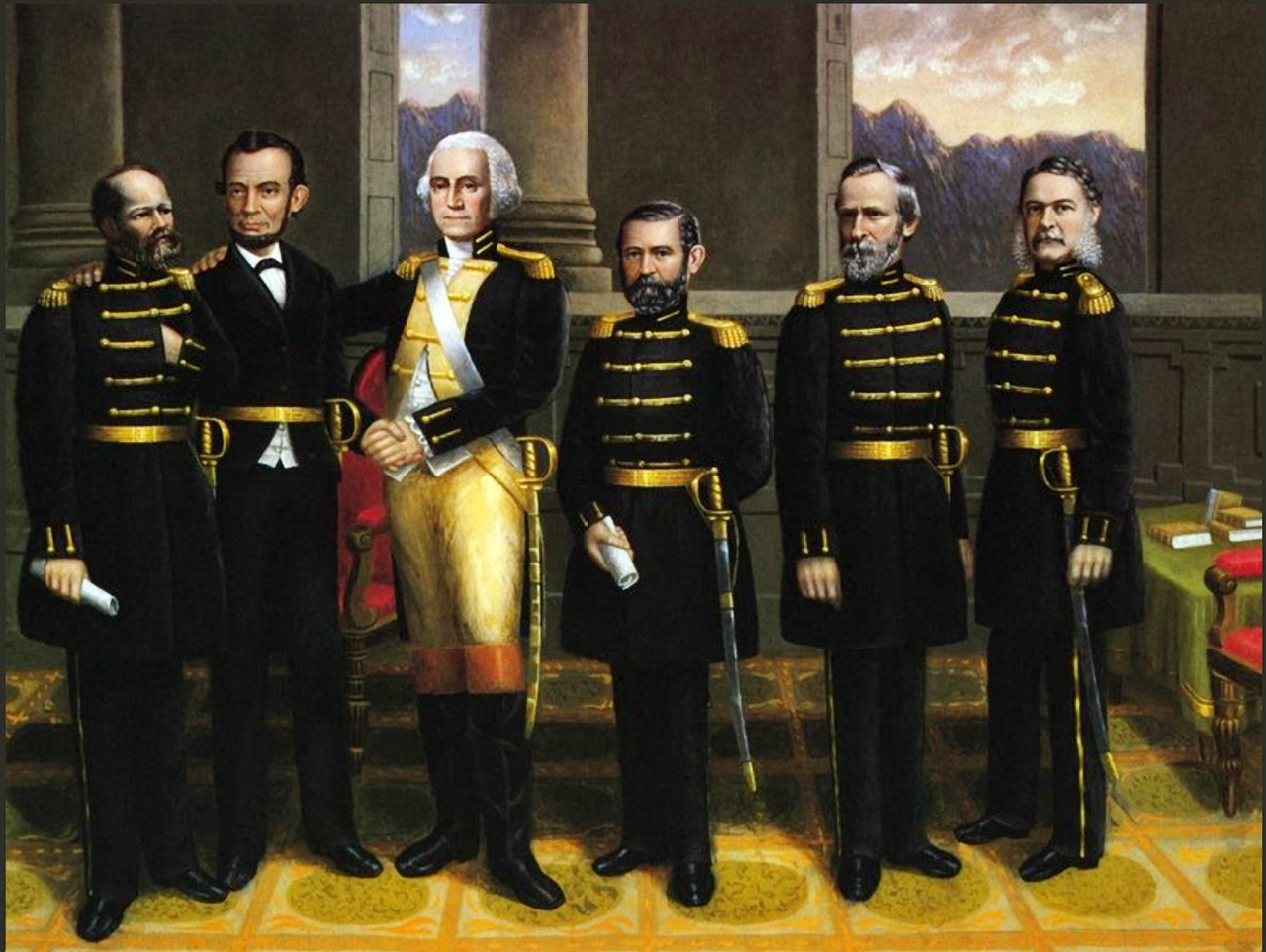 Erastus_Salisbury_Field_-_Lincoln_with_Washington_and_his_Generals
